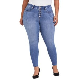 Torrid Premium Stretch Sky High Button Fly Jeans